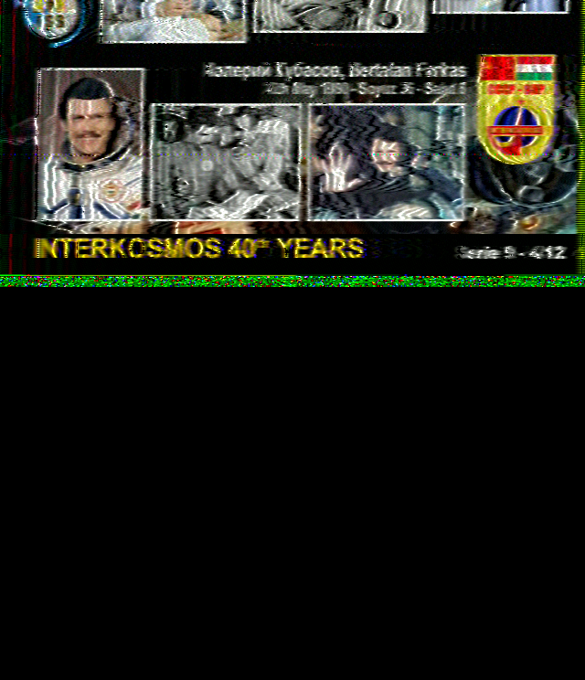 Series 9 4/12 ISS SSTV Image