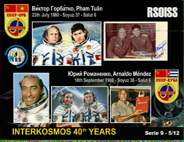 Series 9 5/12 ISS SSTV Image